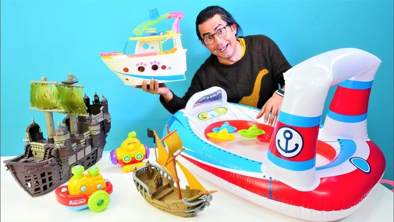 Okul öncesi eğitici video Su oyuncakları Su taşıtlarını öğreniyoruz Çocuklar için eğlenceli video