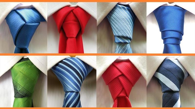 8 Different ways to tie a necktie . How to tie a tie