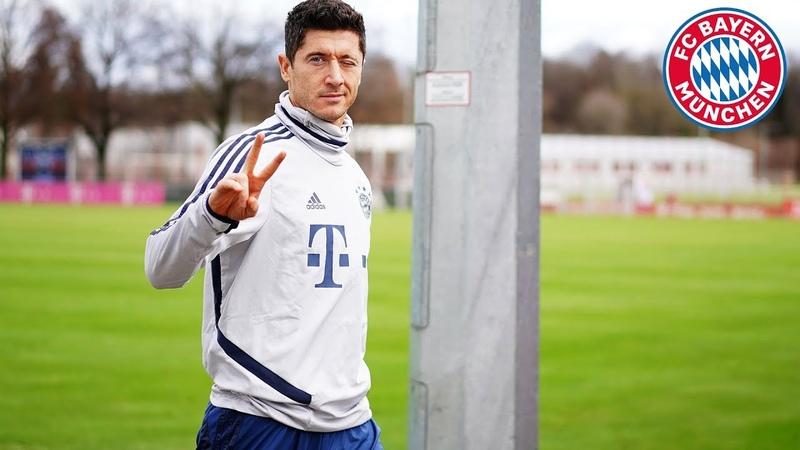 Lewandowski with a lot of swerve: FC Bayern s best training goals 6