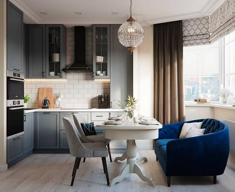 7 проектов от профи, как оформить дизайн кухни-гостиной площадью 12 м2, изображение №6