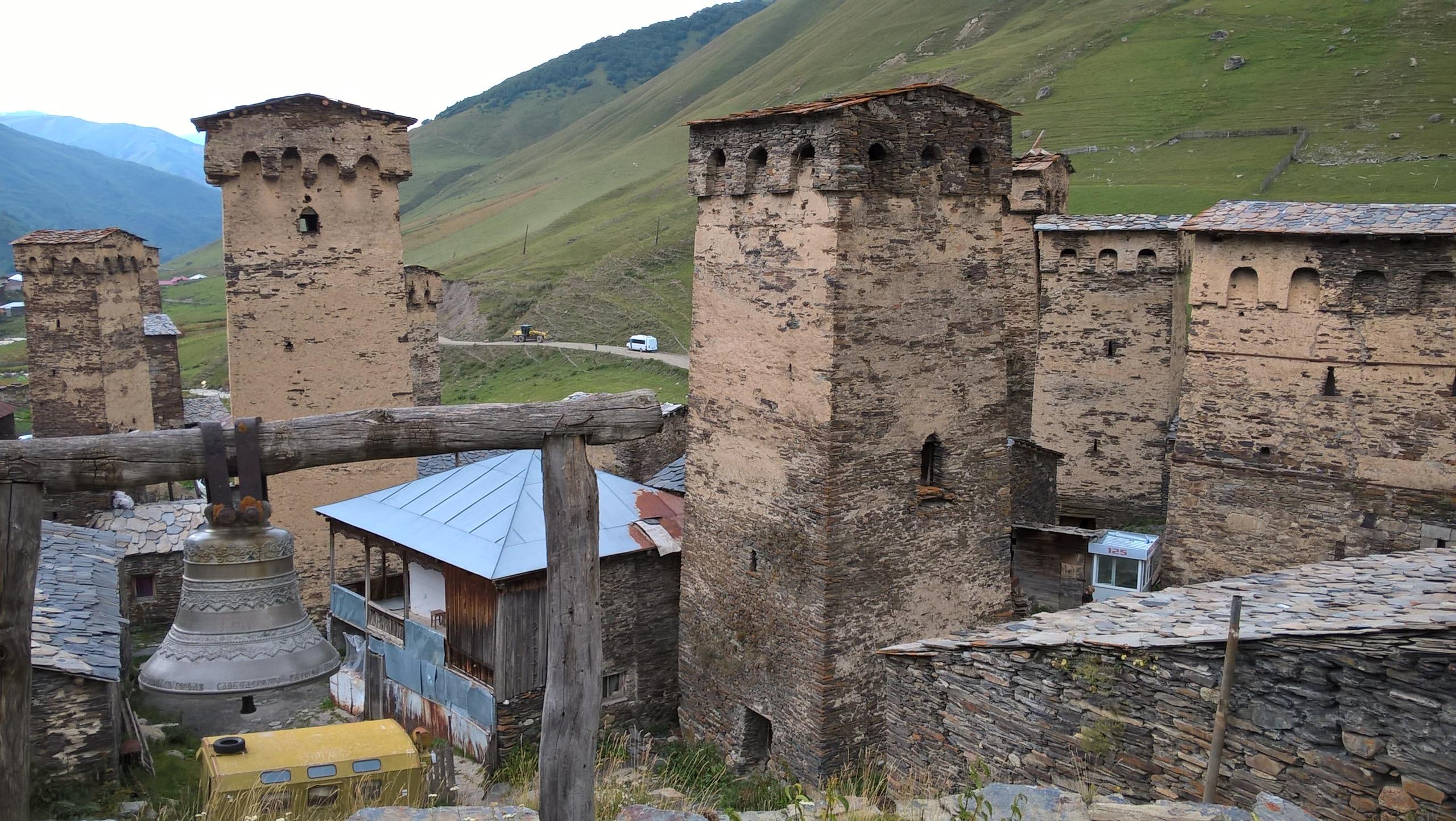 Фото из центральной части общины Ушгули