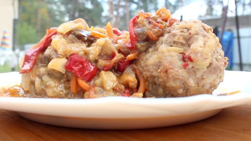 Шикарное блюдо в казане Такое блюдо ты обязан приготовить Невероятный вкус Тефтели с овощами