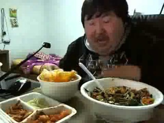 I'm Hungry! (Stoned Asian man laughing and eating)
