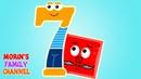 Изучаем цифру 7 СЕМЬ Развивающие мультики для детей 0-5 лет.