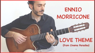 (⬇️SCORE+TAB⬇️)  Love Theme from Cinema Paradiso (Fingerstyle Guitar Cover)