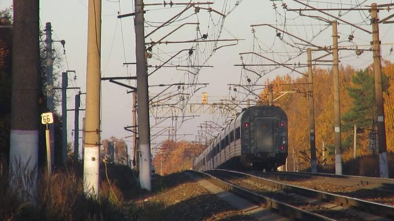 Электровоз ЭП20 057 с поездом№740А Брянск Москва перегон Нара Бекасово 1 15 10 2018