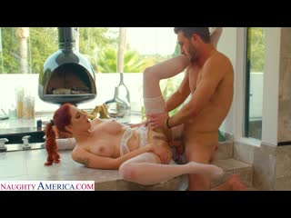 Lilian stone tries on her friends lingerie and gets caught by the husband porno, all sex redhead big tits ass, porn, порно