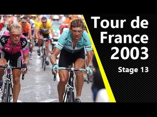 Jan Ullrich attacking Lance Armstrong!   Tour de France 2003   Stage 13   Toulouse - Ax-3 Domaines