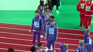 [FANCAM] 191216 ISAC 2020 ATEEZ interacts with other Group