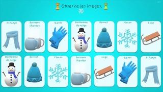 Jeu de mémoire - ⛄ Vocabulaire de l'hiver ⛄