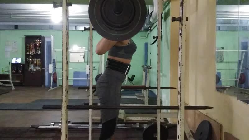 Плешко Нина присед 75 кг собств вес 56