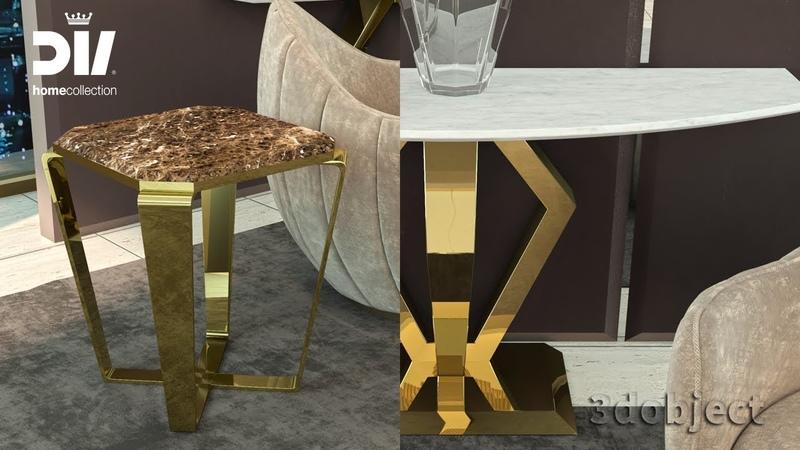 3d моделирование столиков DV home Ritz в 3dsMax | 3d modeling | console сoffee table