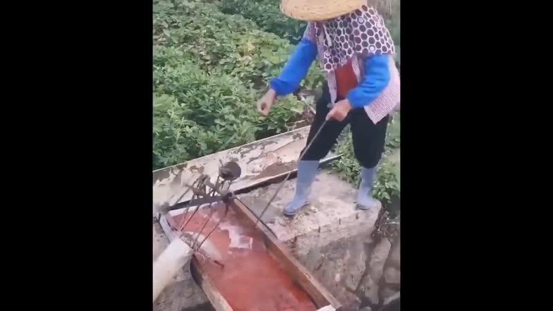 Азиатские технологии по добычи воды для небольшого поселения