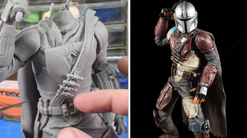 Sculpting the Mandalorian in Polymer Clay(Part 1)Disney Originals|Star Wars| Polymer Clay sculpture