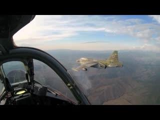 Российские штурмовики Су-25 применили авиационные бомбы и ракеты на учении в Киргизии