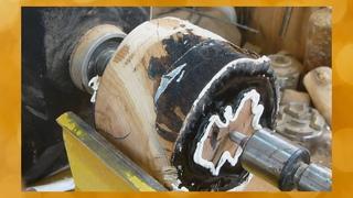 Что можно сделать из неказистой деревяшки на Токарном