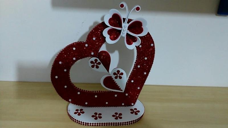 طريقة بسيطة لعمل هدية راقية كيفية عمل قلب من الفوم اعمال فنية DIY Home Decor Arts and crafts