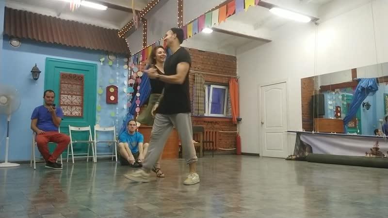 Эйтор и Женя - паулиста и вариации, танец (SPB, 22.12.2019)