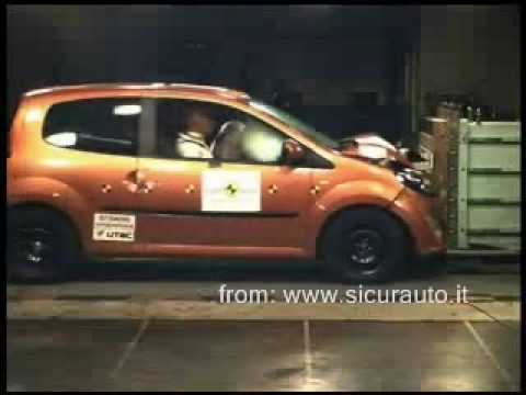 Crash Test EuroNCAP Renault Twingo (2007) www.sicurauto.it