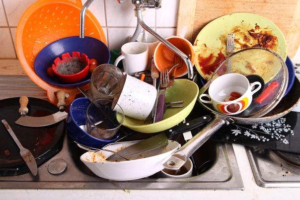 гора посуды фото стих что представляет