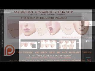 SakimiChan ART  - Term 32 - Lips_video_tutorial