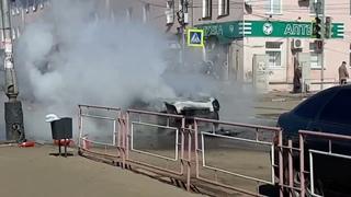 Возгорание авто в Мичуринске