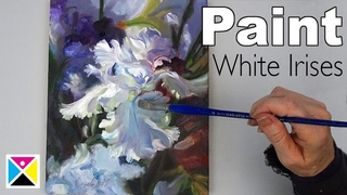 How to Paint White Irises in Acrylics and Oils