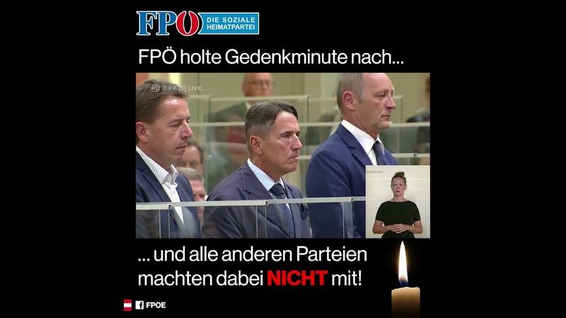 FPÖ hielt Gedenkminute für Leonie ab Alle anderen Parteien machten dabei NICHT mit