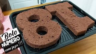 BOLO NÚMERO/NUMBER CAKE /MASSA AMANTEIGADA DE CHOCOLATE/  BRIGADEIRO LEITE NINHO/PARIS CAKE DESIGNER