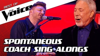 TOP 10   SURPRISE Coach SING ALONGS during the Blind Auditions in The Voice