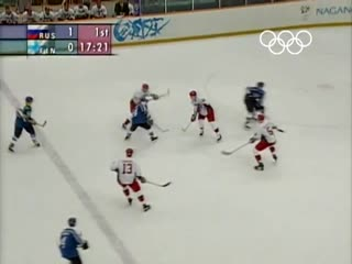 Pavel Bures 5 goals against Finland at the Olympic Games -1998