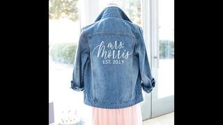 Джинсовая куртка на заказ с именем и римскими цифрами (средняя спина)/девичник для медового месяца, джинсовая куртка для