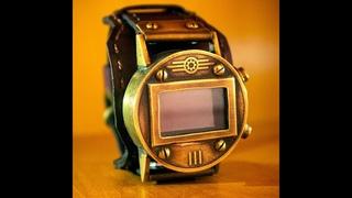 Наручные стимпанк часы на LED индикаторах