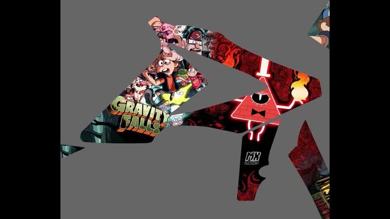 Графика Gravity Falls на Beta Наклейки на Beta RR