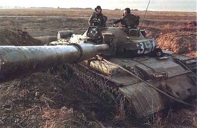 Т-62М на боевой позиции