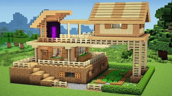 майнкрафт небольшой дом #10