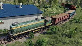 Золотой колос FS19 - Железная дорога на карте