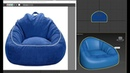 3ds max -Bean bag chairs simple model