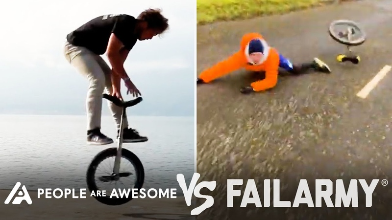 Wins Vs Fails In Unicycling Weightlifting Horseback Riding More People Are Awesome Vs FailArmy