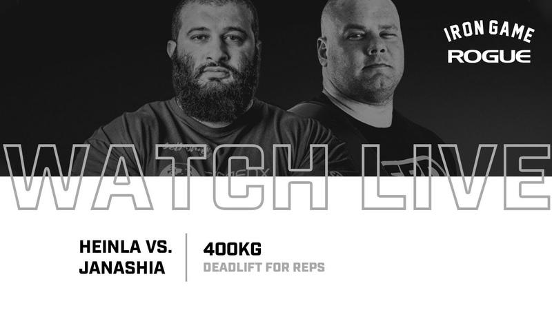 Full Live Stream Janashia vs. Heinla 400KG Deadlift For Reps Record Attempt