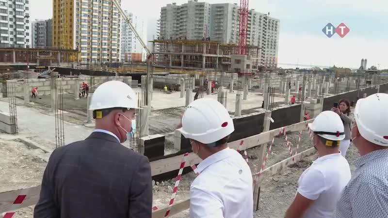 Строительство самой большой школы в городе Новороссийске на 1550 мест