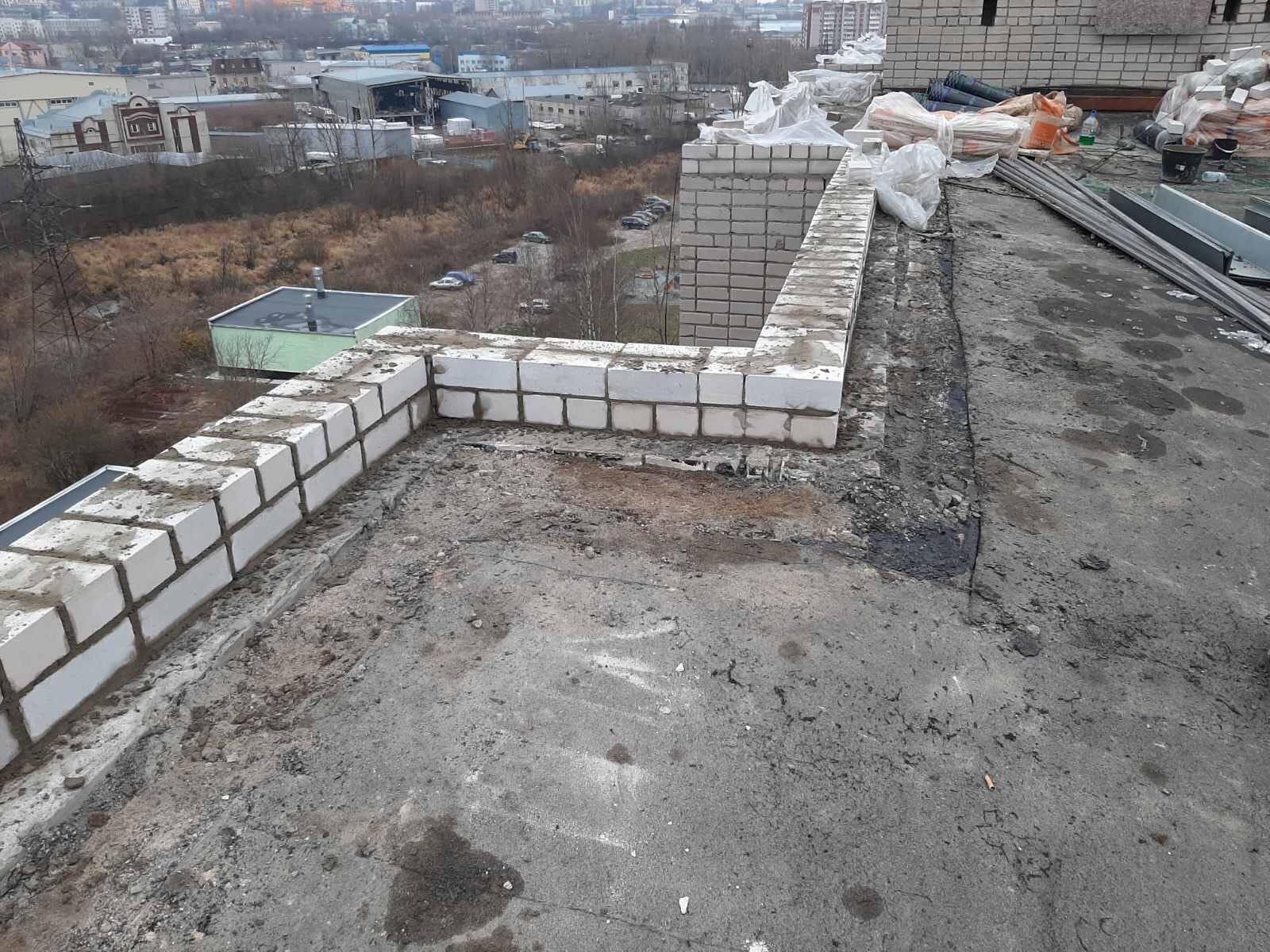 Восстановление кирпичной кладки парапета кровли Улица Ердякова