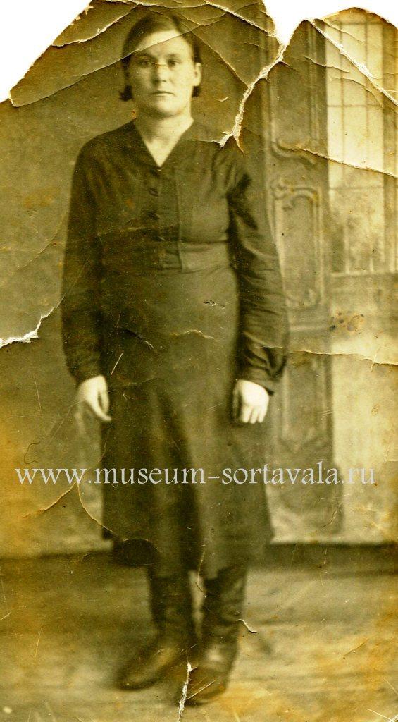 Анна Фомина. г. Беломорск, 1940-е годы. Из фондов РМСП