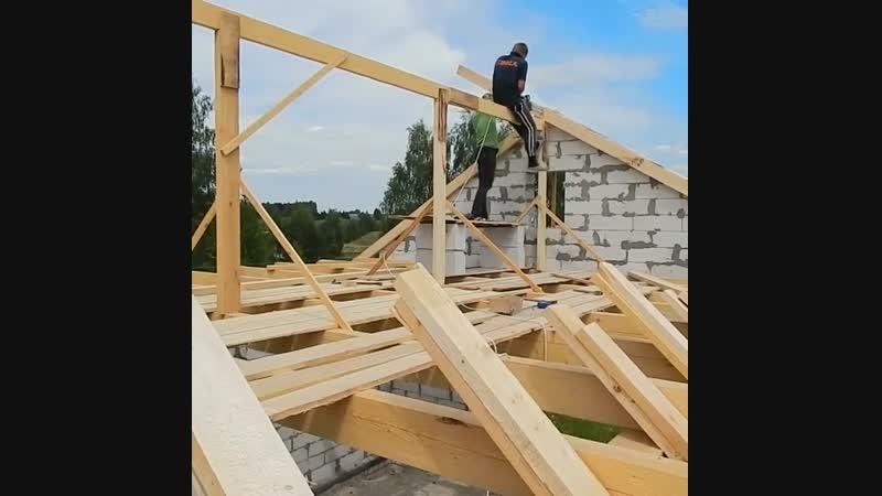 Строительство крыши. Стропила - Строим дом своими руками