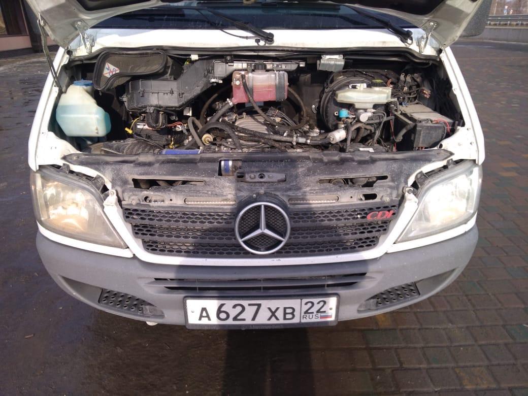 Замена двс с 1uz на 3uz с документами. Mercedes Sprinter