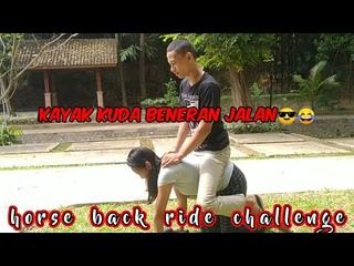 horse back ride challenge jalan, mirip kuda asli juliari 😎