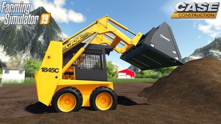 Farming Simulator 19 - CASE 1845C Skid Steer Loader Cleans The Construction Site From Dirt