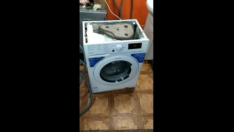 Тестирование стиральной машины Indesit BWSE 81282 LB в процессе ремонта. 🧐🌊