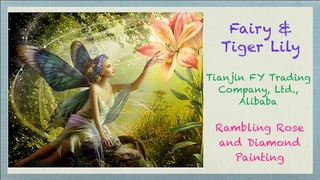 Fairy & Tiger Lily - Short-Lint Canvas from Tianjin FY Trading Company, Ltd. on