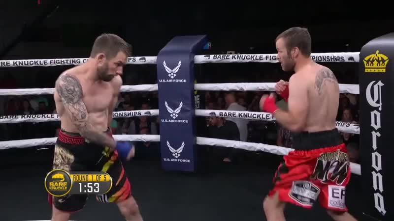 BKFC 1 Полный бой Johnny Bedford vs Nick Mamalis